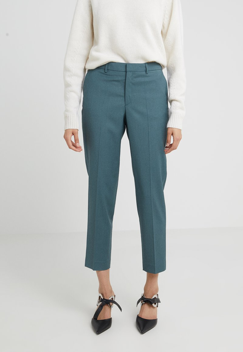 Filippa K - EMMA CROPPED COOL TROUSER - Kalhoty - river