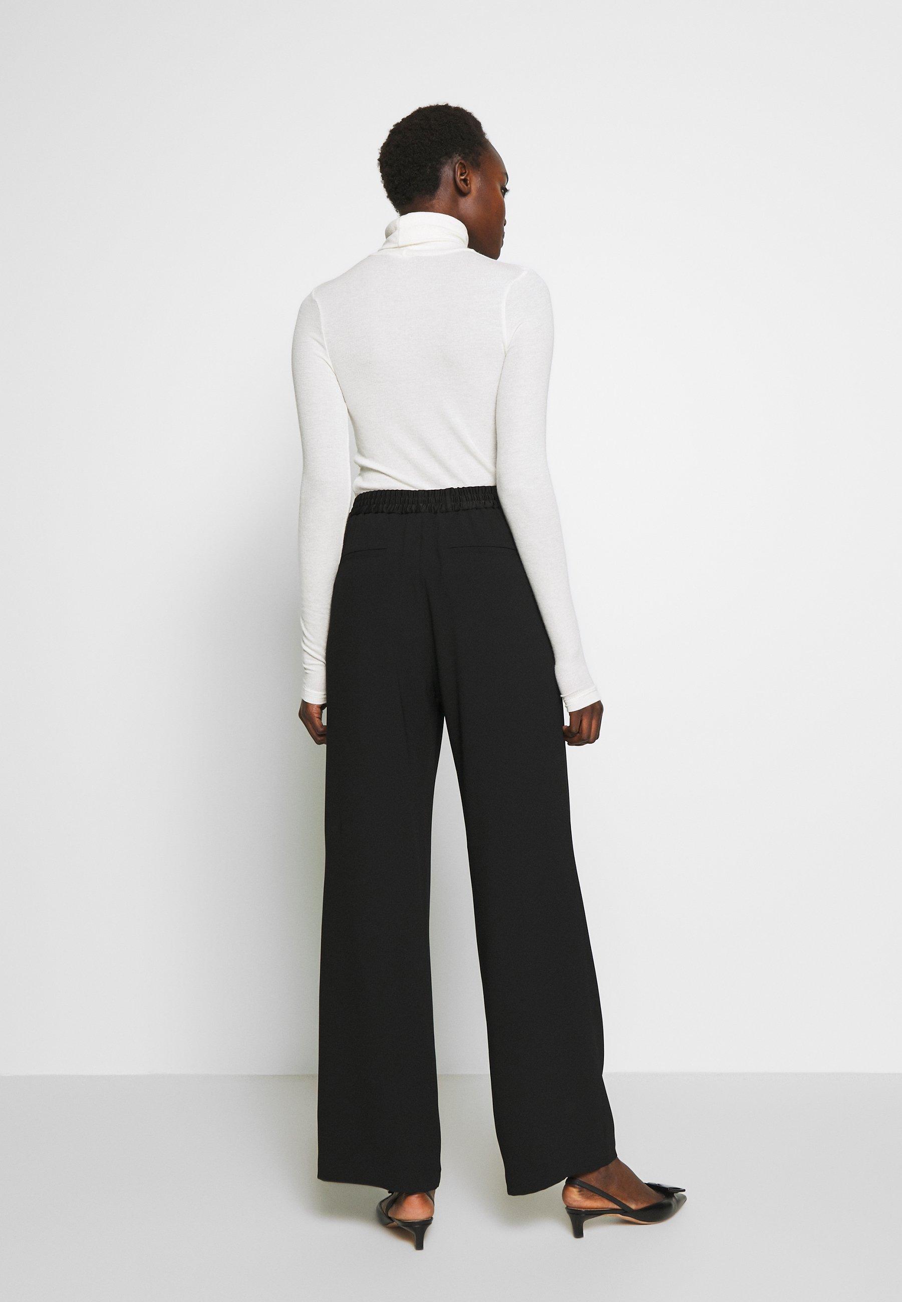 Filippa K ELSIE TROUSER - Spodnie materiałowe - black