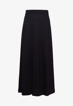 FIT FLARE SKIRT - Maxi skirt - black