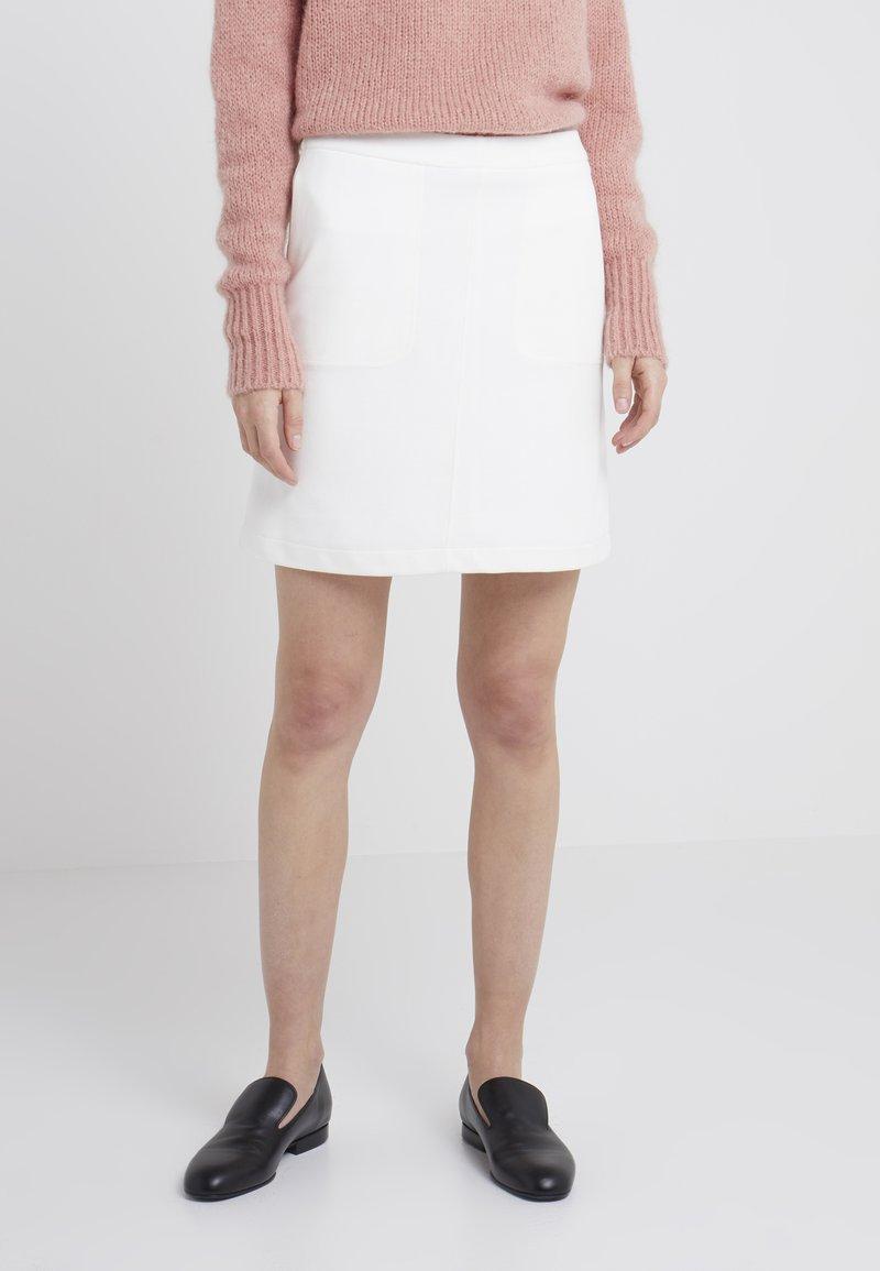 Filippa K - DOUBLE FACE POCKET SKIRT - A-line skirt - offwhite