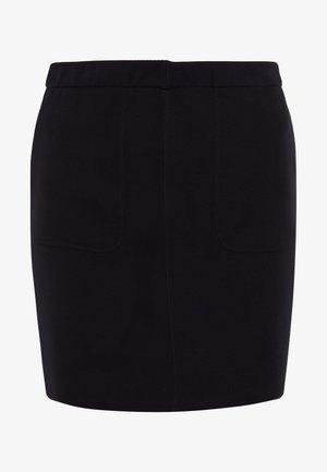 DOUBLE FACE POCKET SKIRT - A-snit nederdel/ A-formede nederdele - black