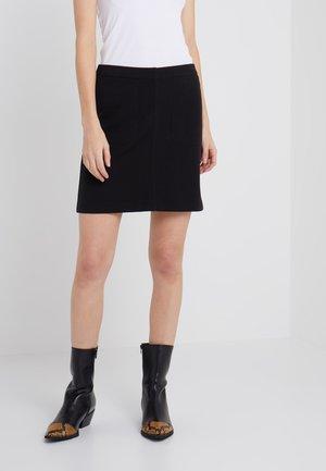 DOUBLE FACE POCKET SKIRT - Áčková sukně - black