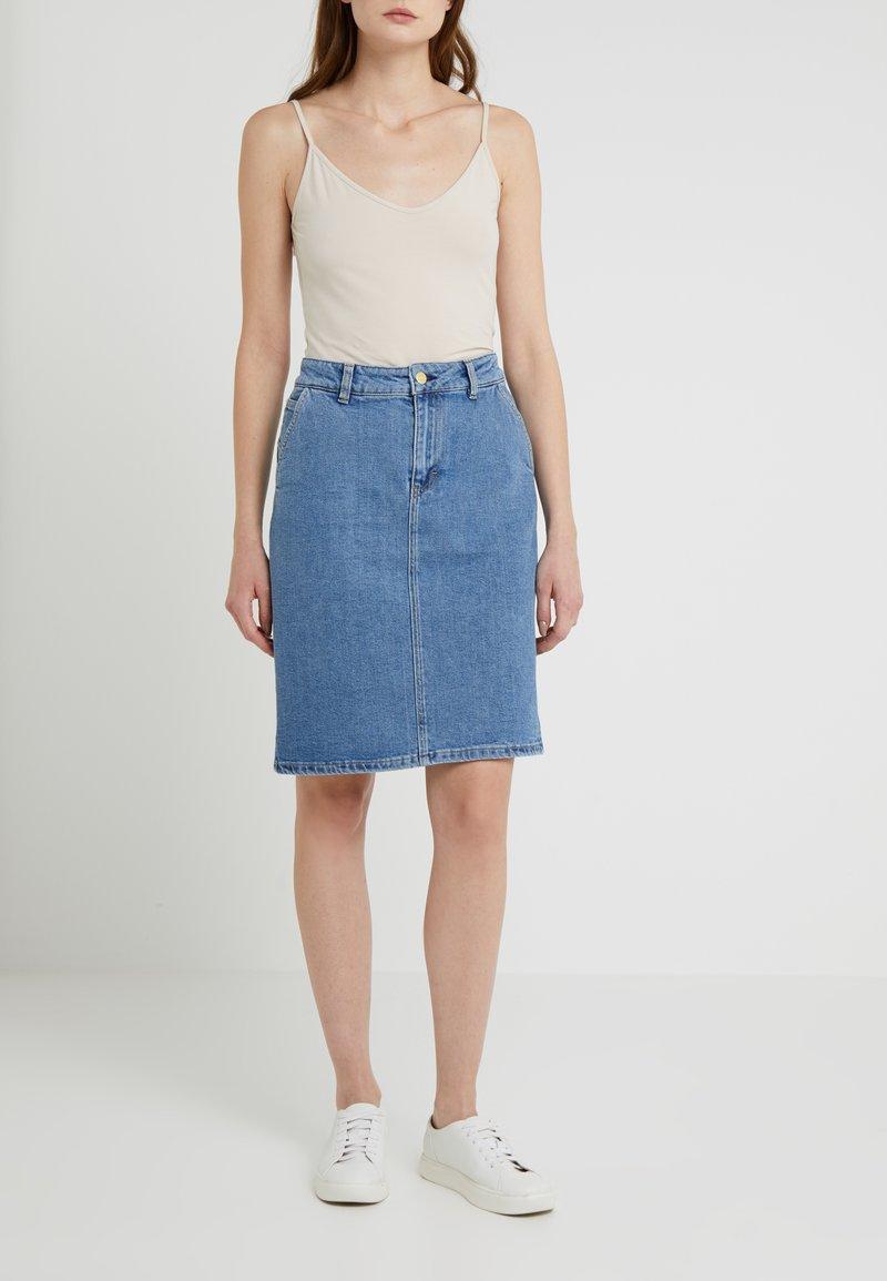 Filippa K - ALICIA SKIRT - Pencil skirt - mid blue