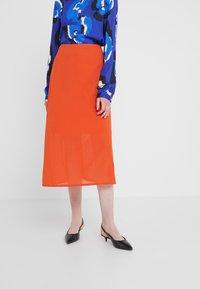 Filippa K - SKIRT - A-line skirt - tangerine - 0