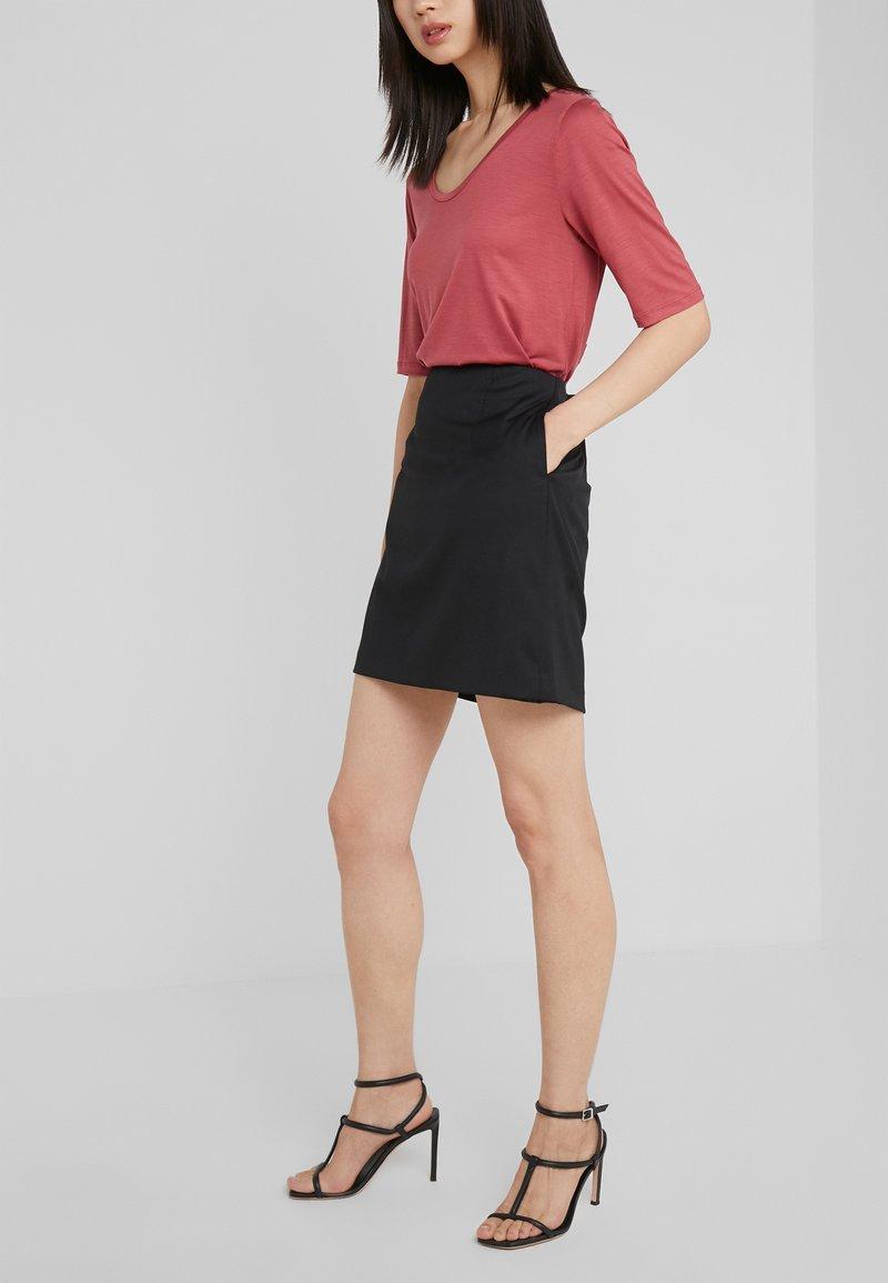 Filippa K - AILA SKIRT - Mini skirt - black