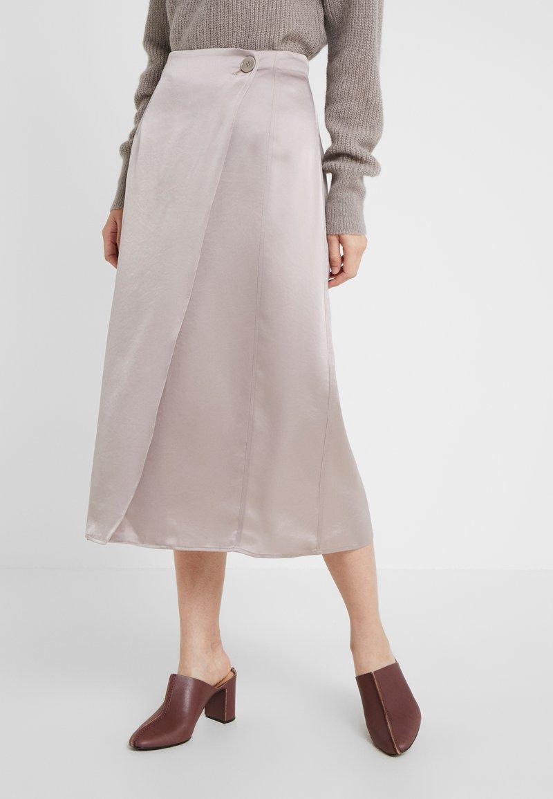 Filippa K - ALBA SKIRT - Áčková sukně - powder
