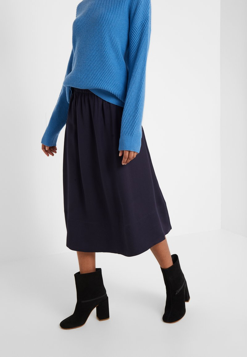 Filippa K - JULIET SKIRT - A-line skirt - deep blue