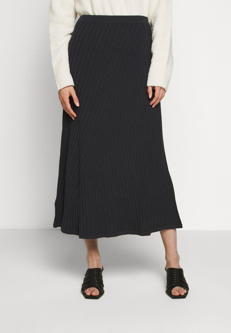 Filippa K - SKIRT - A-line skirt - ink blue