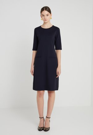 FRONT POCKET SHIFT DRESS - Jersey dress - navy