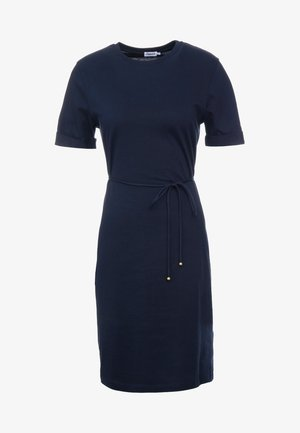 CREW NECK  DRESS - Jerseykjoler - navy