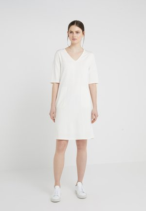 DOUBLE FACE DRESS - Jersey dress - offwhite