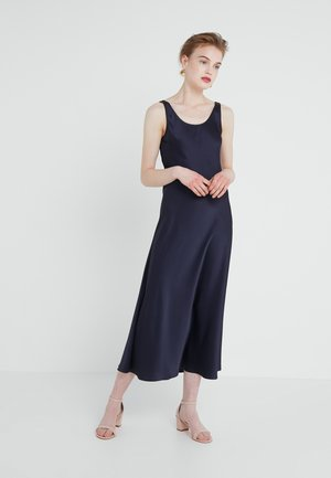 LONG SLIP DRESS - Vestito estivo - navy