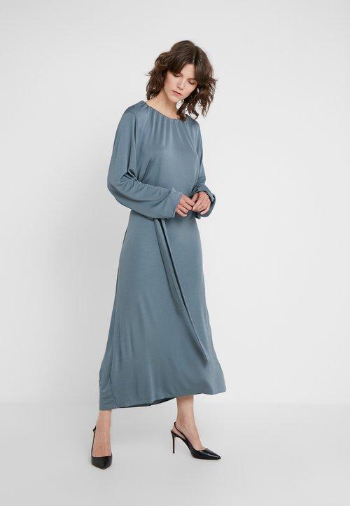 80% ZNIŻKI Filippa K LEIA DRESS - Długa sukienka - blue grey Odzież Damska Sukienki PPRN-IJ5