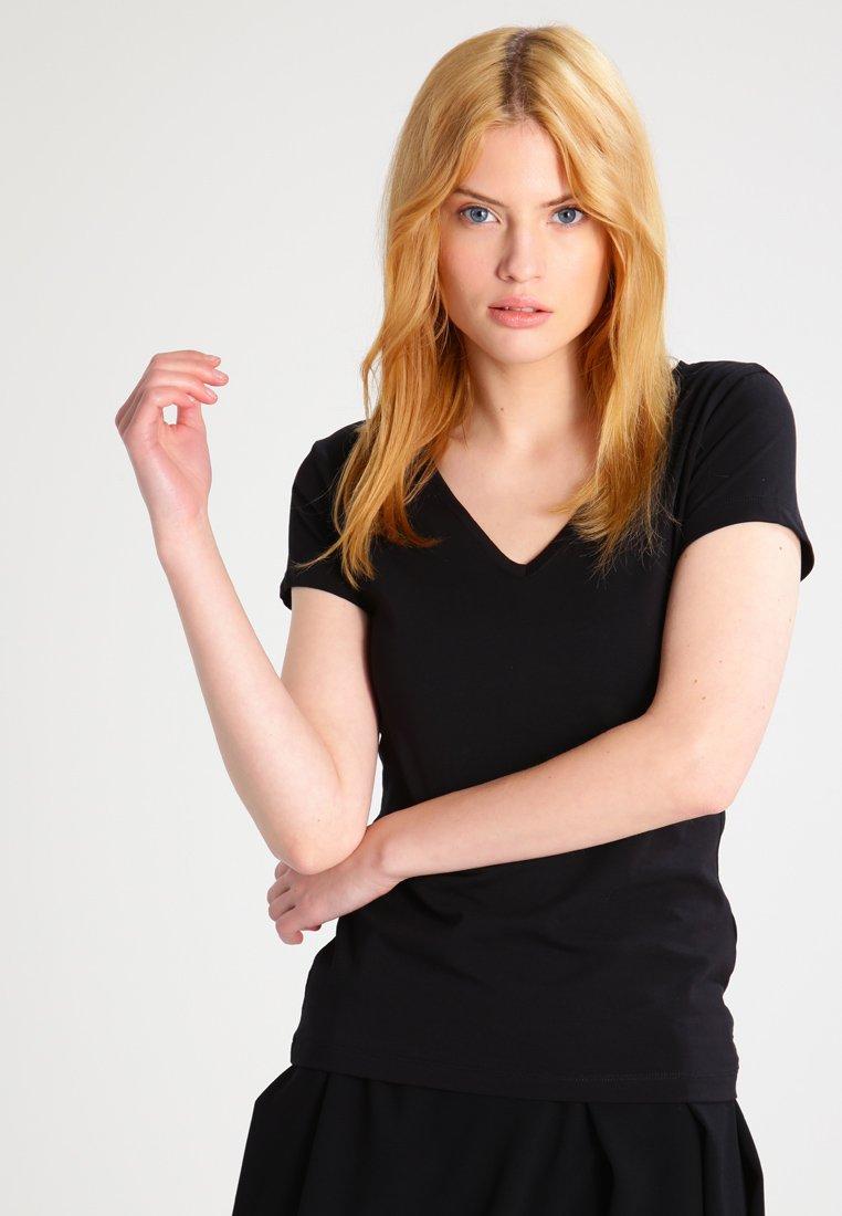 Filippa K - FINE  - T-shirts basic - black