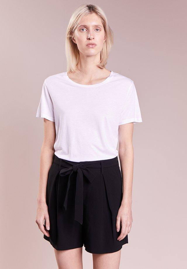 CREW NECK TEE - T-shirt - bas - white