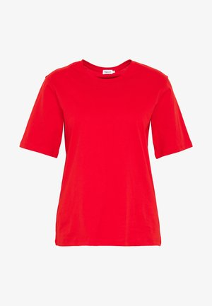 CREW NECK TEE - Jednoduché triko - red orange