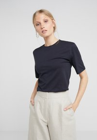 Filippa K - CREW NECK TEE - T-shirt basic - navy - 0