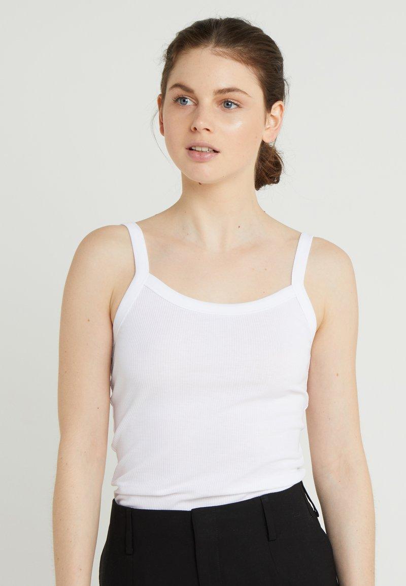 Filippa K - FINE RIB SINGLET - Top - white
