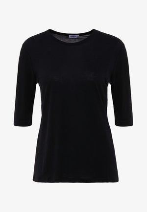 TENCEL ELBOW SLEEVE - Basic T-shirt - black