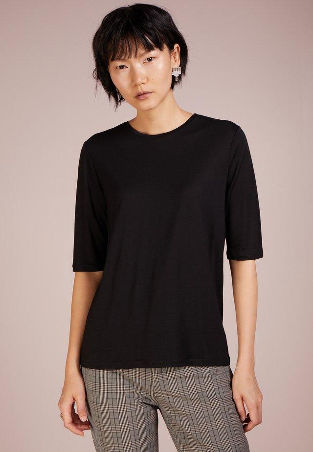 TENCEL ELBOW SLEEVE - T-shirt basic - black