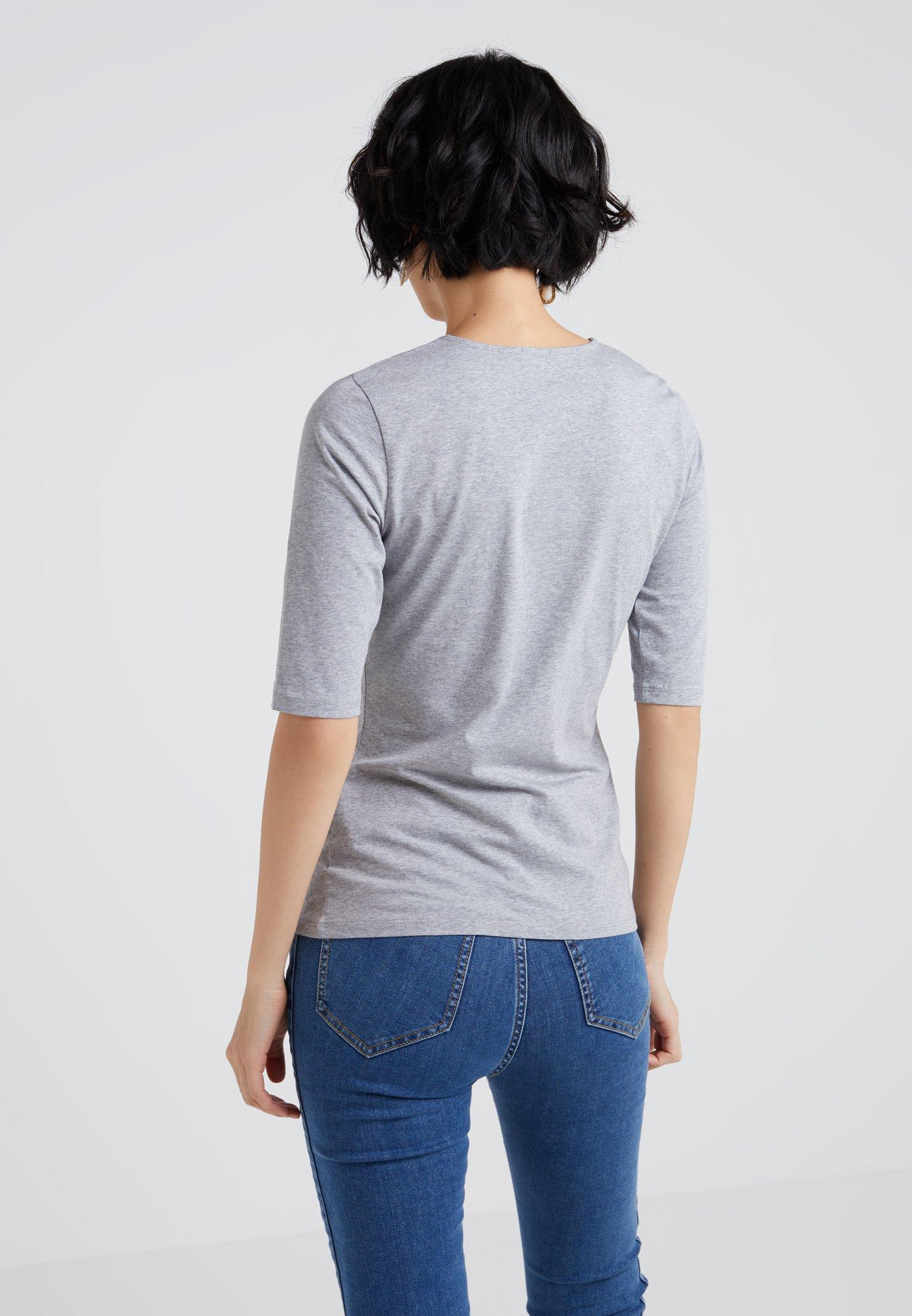 Filippa K STRETCH ELBOW SLEEVE - T-shirts - grey melange