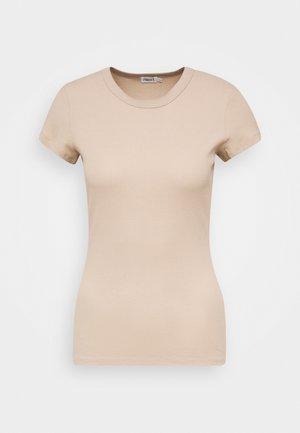 FINE TEE - Camiseta básica - sand beige