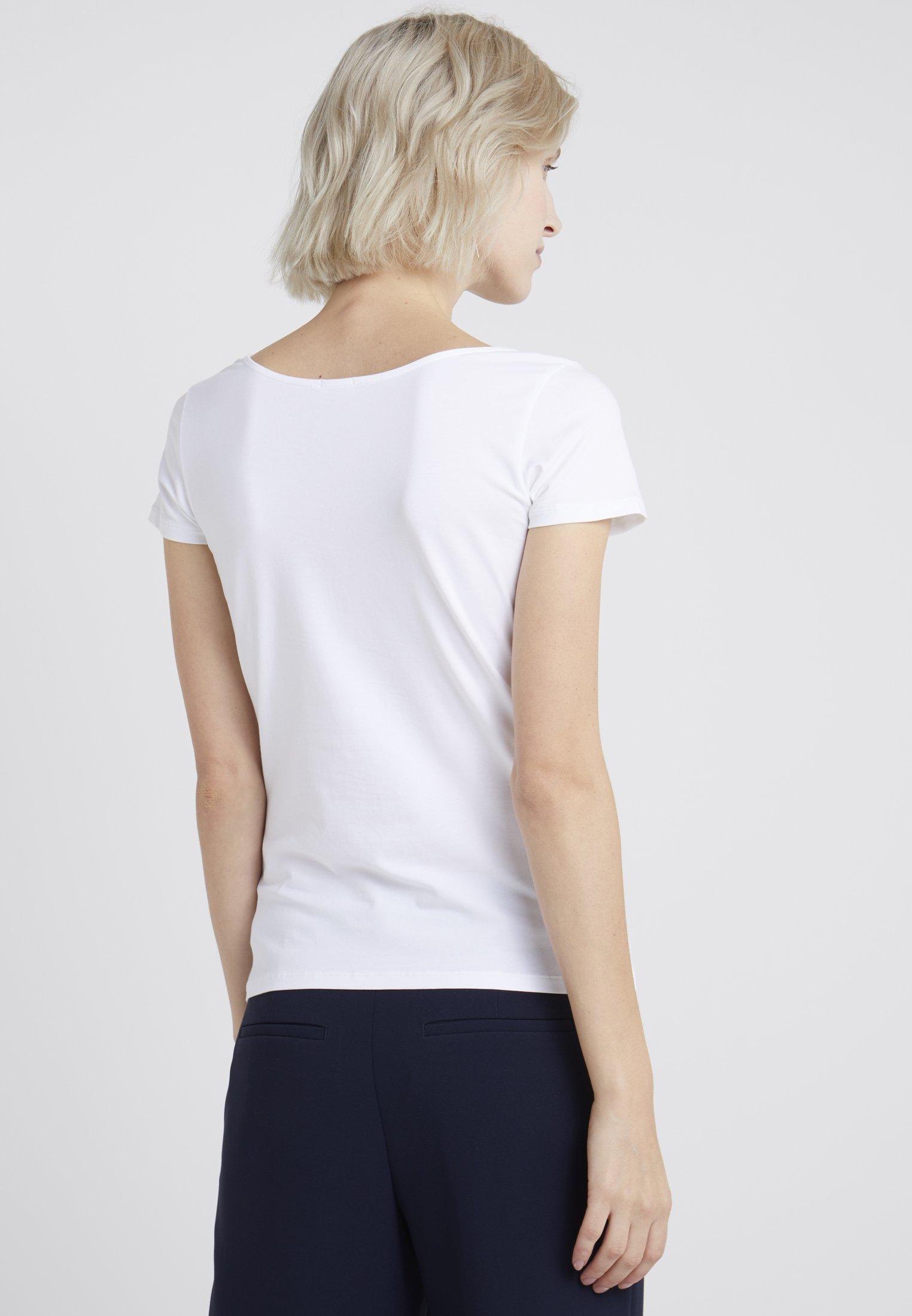 White shirt Neck TopT K Scoop Filippa Basique uJclKT1F3