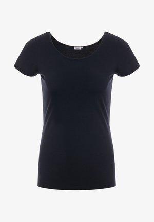 SCOOP NECK TOP - T-shirts - navy