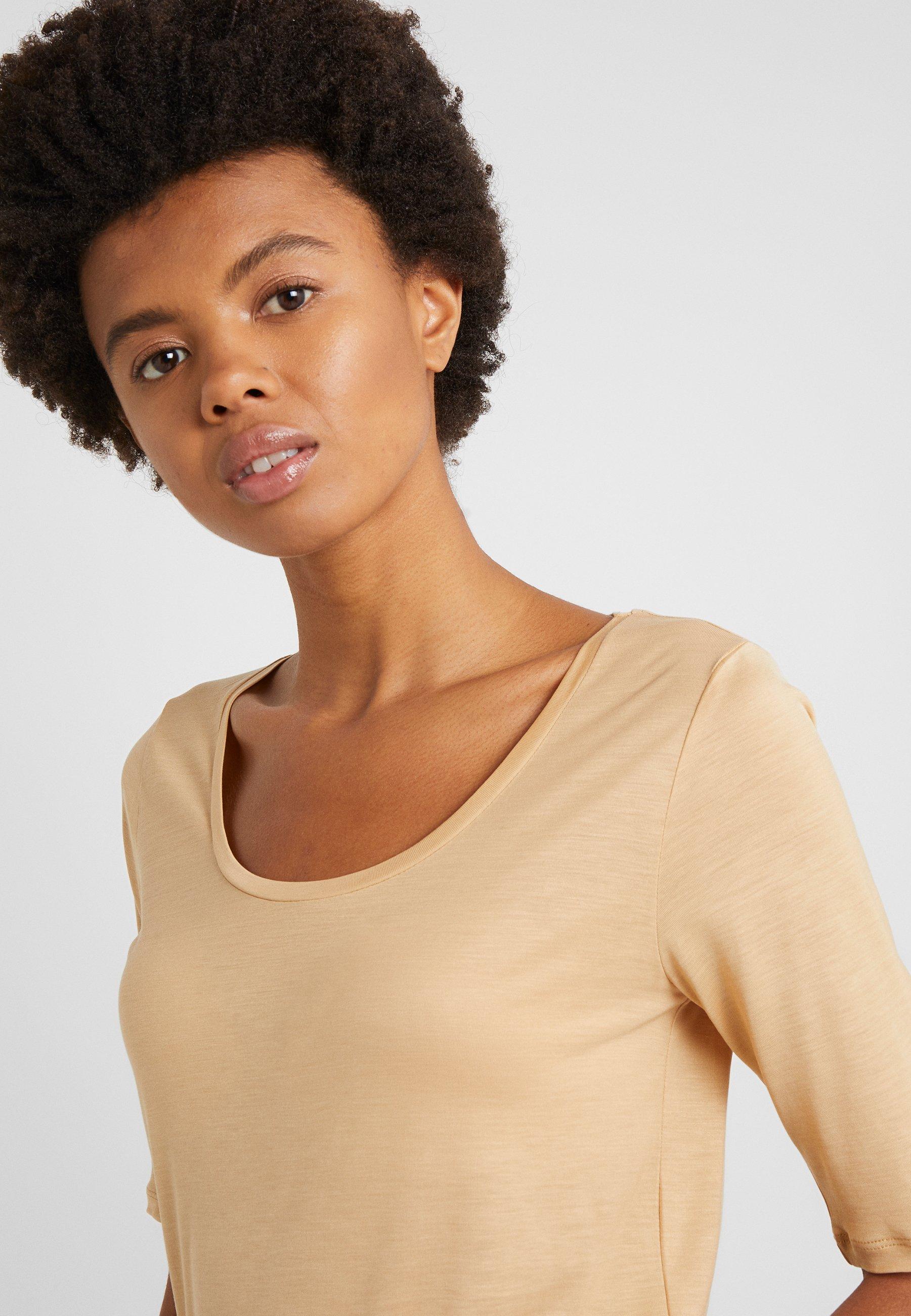Filippa K ELBOW SLEEVE - T-shirt basic - toffe beige