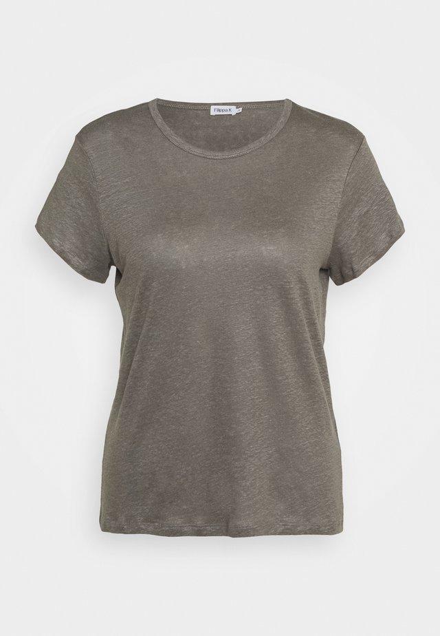 HAZEL TEE - T-shirts basic - green/grey