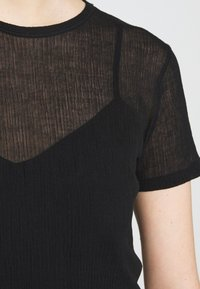 Filippa K - SHEER TEE - T-shirt basique - black - 5