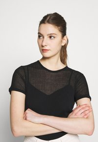 Filippa K - SHEER TEE - T-shirt basique - black - 3