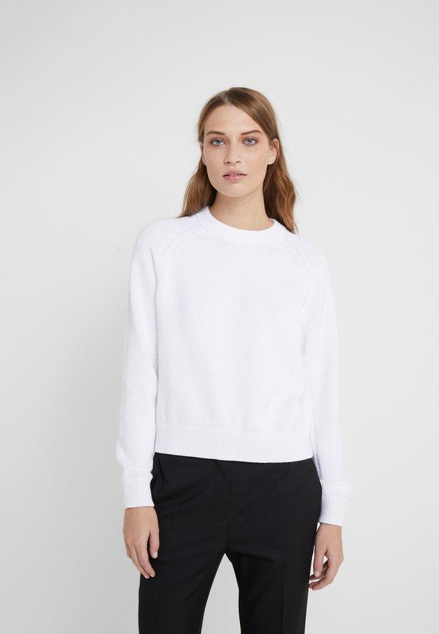 R-NECK - Stickad tröja - white