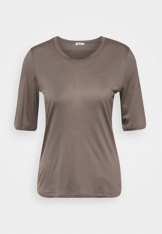 ELENA  TEE - T-shirt basic - dark taupe