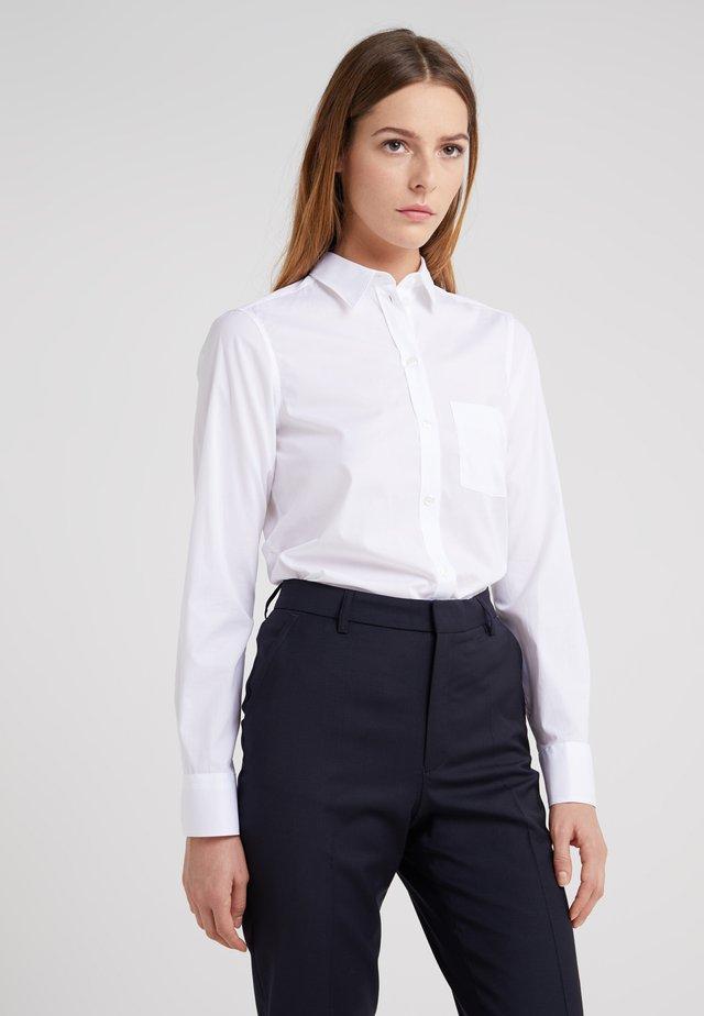 CLASSIC - Button-down blouse - white