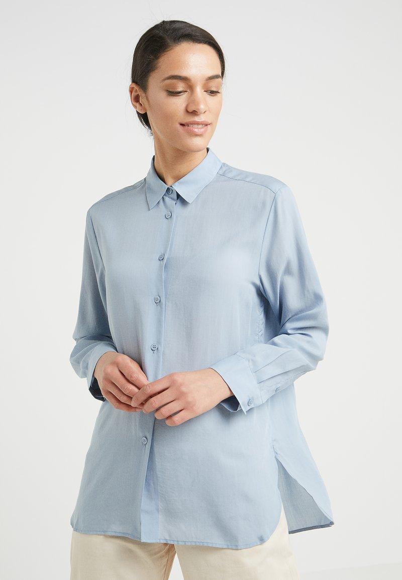 Filippa K - HIGH LOW - Button-down blouse - dusty blue