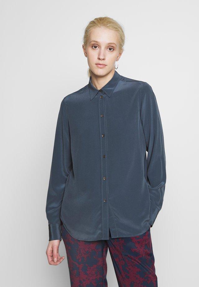CLASSIC - Button-down blouse - blue grey