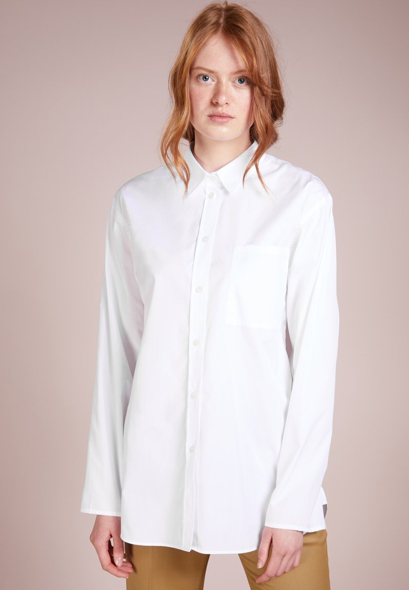 Filippa K - POPLIN SHIRT - Button-down blouse - white