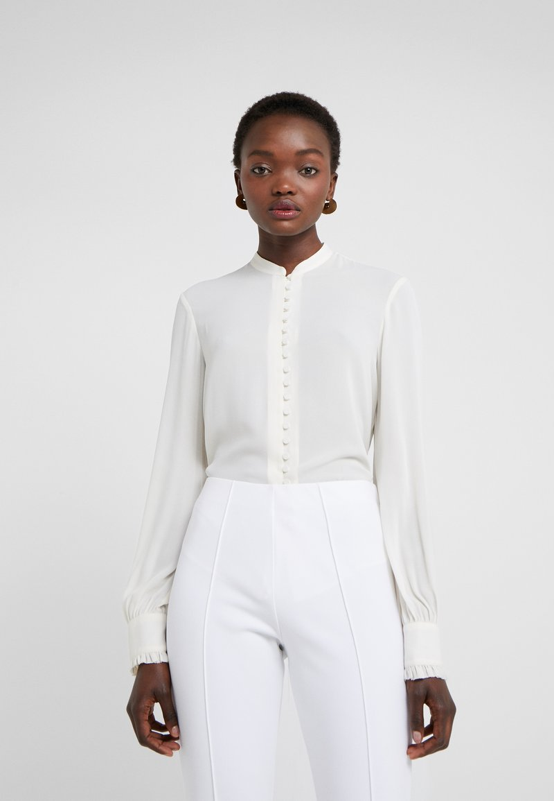 Filippa K - SHEER BUTTON BLOUSE - Košile - cream