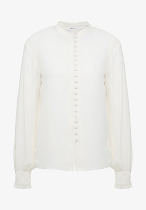 SHEER BUTTON BLOUSE - Button-down blouse - cream