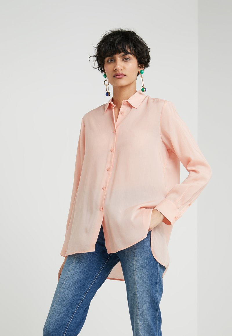 Filippa K - HIGH LOW - Button-down blouse - dusty pink