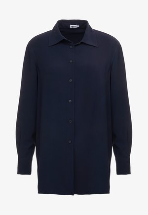 LONG CREPE SHIRT - Camicia - navy
