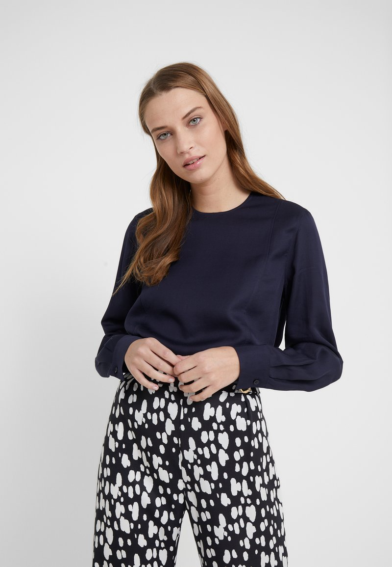 Filippa K - FEN BLOUSE - Blusa - deep blue