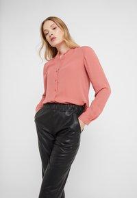 Filippa K - ADELE BLOUSE - Button-down blouse - pink cedar - 0