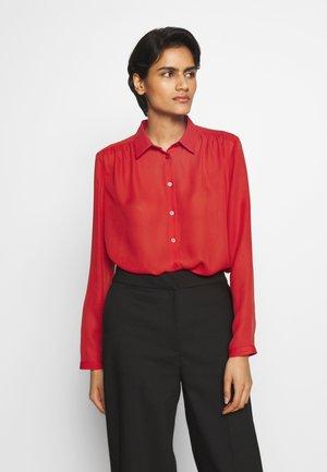 MARIELLE - Button-down blouse - red orange