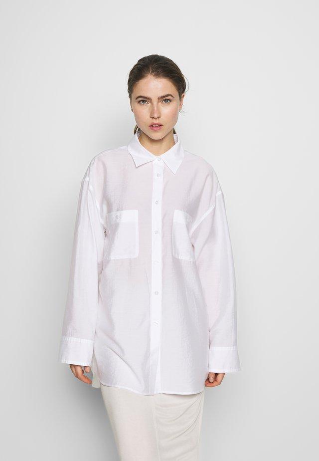 SANDIE - Button-down blouse - coconut wh