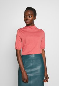 Filippa K - EVELYN - Basic T-shirt - pink cedar - 0