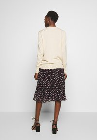 Filippa K - MIX NECK CARDIGAN - Neuletakki - ecru - 2