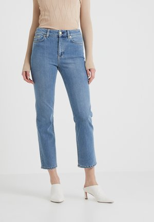 STELLA WASHED - Jeansy Straight Leg - mid blue