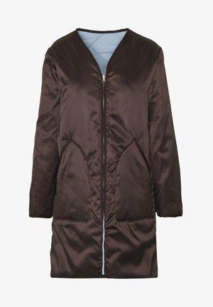 YORK COAT - Halflange jas - dark oak
